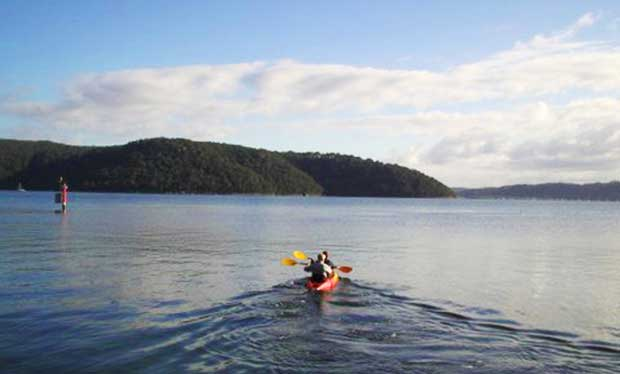 Kayak on Scotland Island