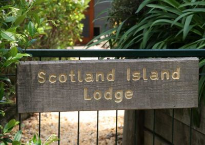 Scotland Island Lodge B&B Backyard Entry Gate